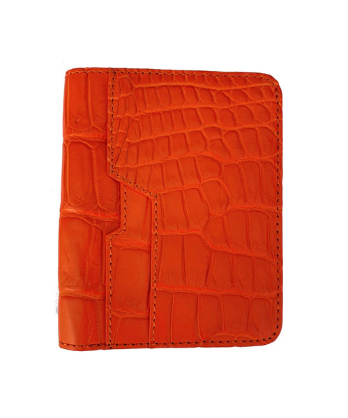 SSG Genuine Crocodile Cardholder Wallet - Orange
