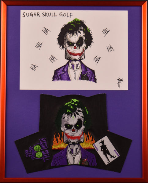 "Framed Joker and Head Cover Drawing 16"" X 20"""