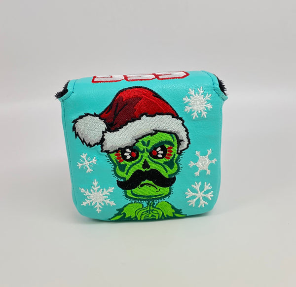 SSG Holiday Grinch Skull Putter Cover - Mallet