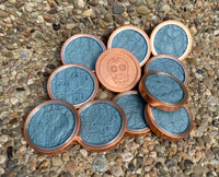 Copper/Light Blue Ostrich Quill - Heavy Duty Ball Marker