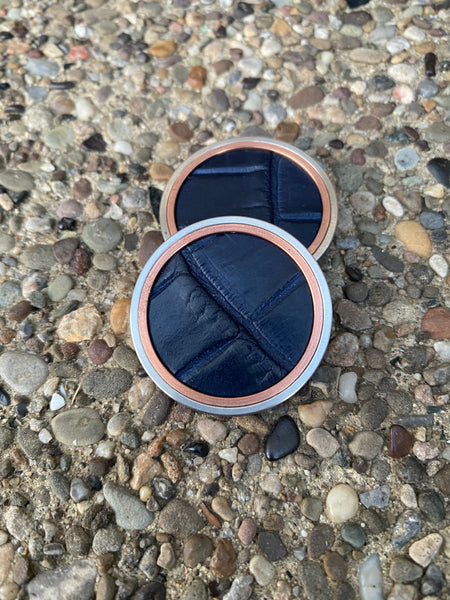 GSS Navy Blue Alligator & Copper Insert- Heavy Duty Ball Marker