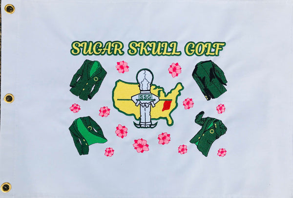 Sugar Skull Golf Masters Pin Flag 20 X 14