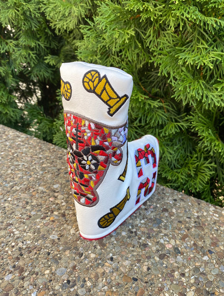 1/1 White MJ Bulls Putter Cover - Blade