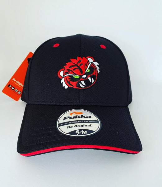 Sugar Skull Golf Angry Tiger Fitted Hat - Black S / M