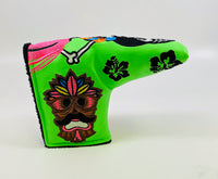 SSG Lime Hawaii Hula Skull Girl Putter Cover - Blade