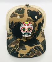 Sugar Skull Golf Camo/Mesh Hat - Brown