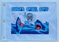 Sugar Skull Golf Shark Week Pin Flag 20 X 14