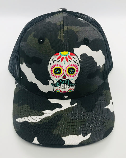 Sugar Skull Golf Camo/Mesh Hat - Black