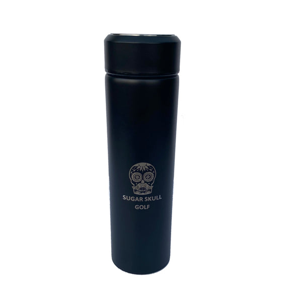 Sugar Skull Golf Stainless Vacuum Flask - Black