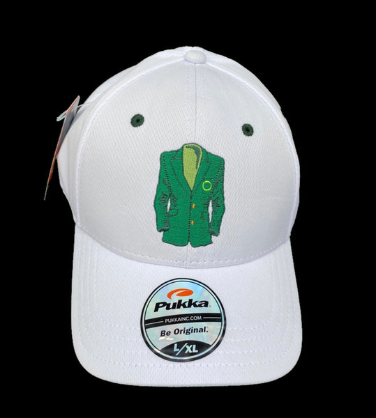 Sugar Skull Golf Masters Fitted Hat - White L/XL