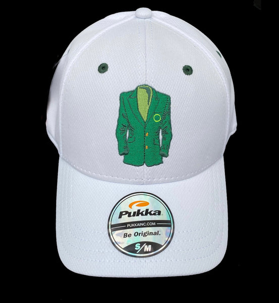 Sugar Skull Golf Masters Fitted Hat - White S/M