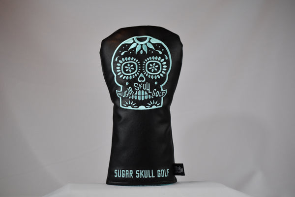 Sugar Skull Golf *NEW STYLE* Black/Robin Egg Blue Driver Headcover *Preorder*