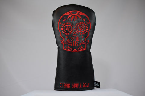 Sugar Skull Golf *NEW STYLE* Black/Red Driver Headcover *Preorder*
