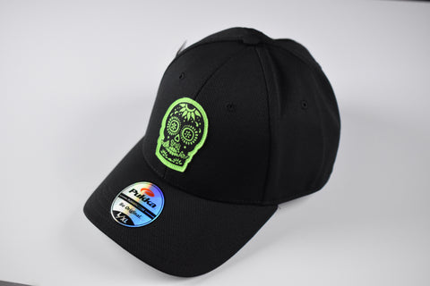 Sugar Skull Golf Fitted Hat - Black L / XL