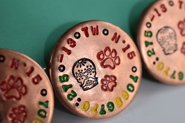 Copper Ballmarker (1/5) Handstamped - Tiger Release