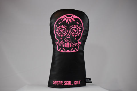 Sugar Skull Golf *NEW STYLE* Black/Pink Driver Headcover *Preorder*