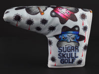 Sugar Skull Golf Hand Drawn Nylon Putter Cover #3
