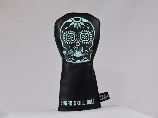 Sugar Skull Golf *NEW STYLE* Black/Robin Egg Blue Fairway Headcover *Preorder*