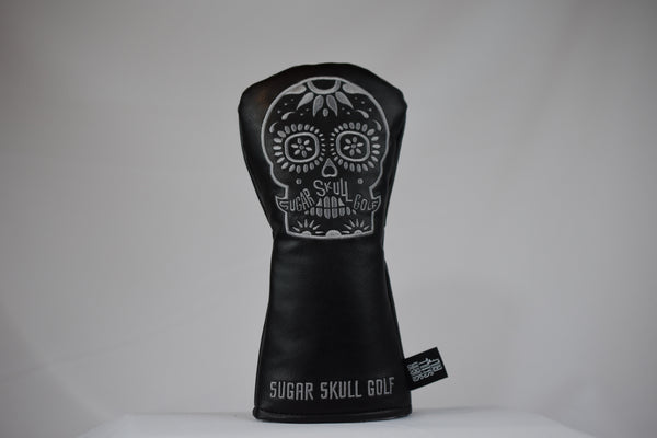 Sugar Skull Golf *NEW STYLE* Black/Gray Fairway Headcover *Preorder*