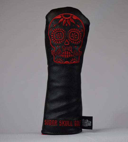 Sugar Skull Golf *NEW STYLE* Black/Red Hybrid Headcover *Preorder*
