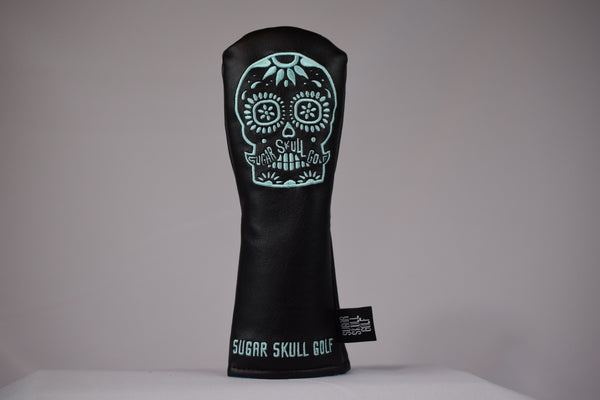 Sugar Skull Golf *NEW STYLE* Black/Robin Egg Blue Hybrid Headcover *Preorder*