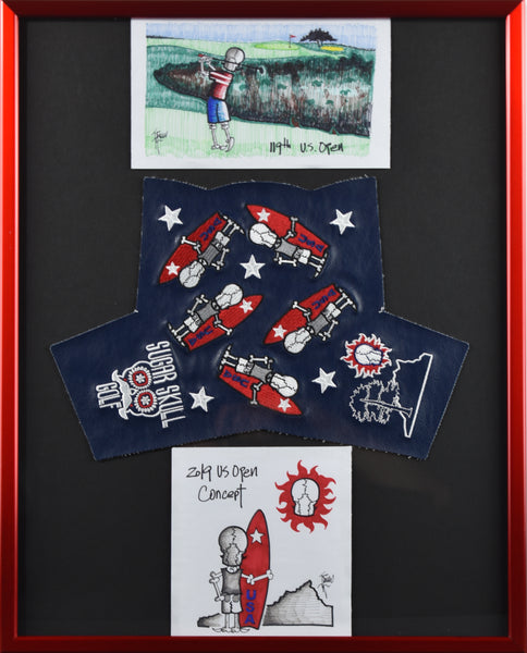 "US Open Surfer Headcover and Drawings 16"" X 20"""