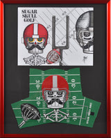 "Football Headcover and Drawing 16"" X 20"""
