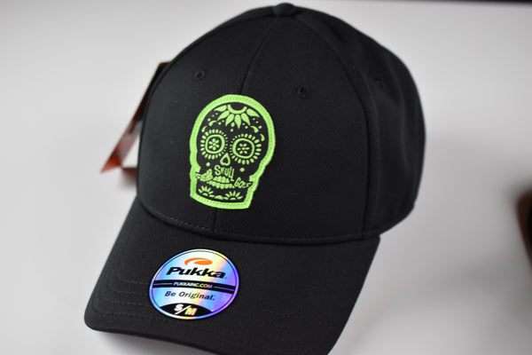Sugar Skull Golf Fitted Hat - Black S / M