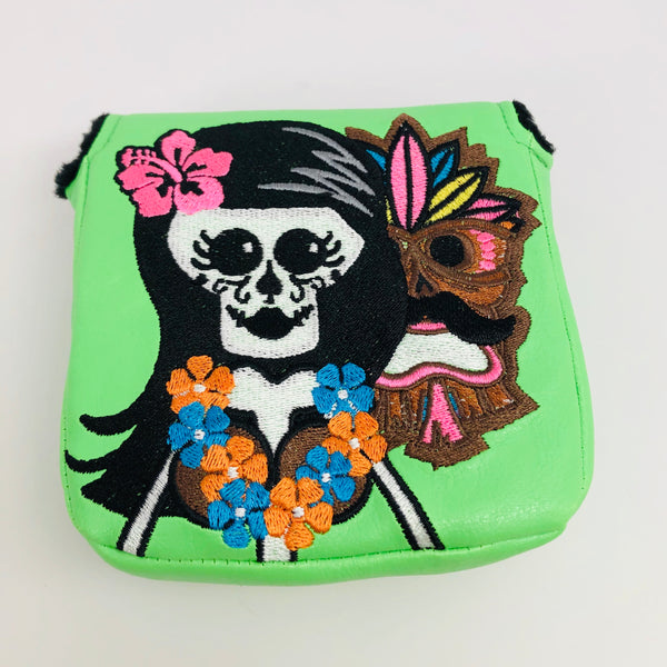 SSG Lime Hawaii Hula Skull Girl Putter Cover - Mallet