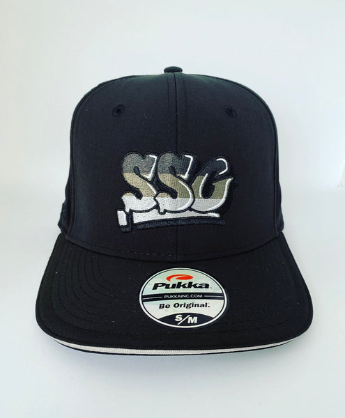 Sugar Skull Golf SSG Fitted Hat - Black S / M