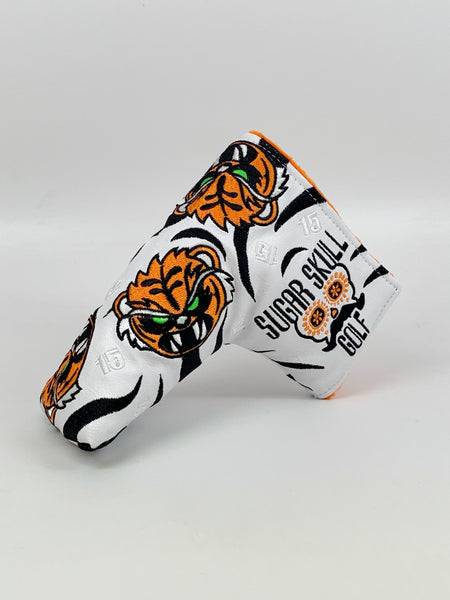 Angry Tiger Blade Putter Cover - White with Black Stripes *Limited Release*