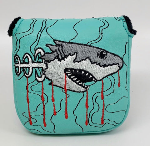 Shark Week Genuine Leather Large Mallet Style Putter Cover *Limited Release*