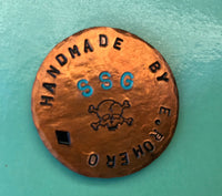 Copper Ballmarker (1/1) Handstamped
