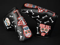 Sugar Skull Golf Stock Putter Cover - Black & Red