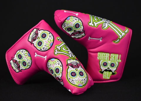 Sugar Skull Golf *Limited Release* Putter Cover - Pink