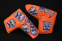 Sugar Skull Golf *Limited Release* Putter Cover - Orange