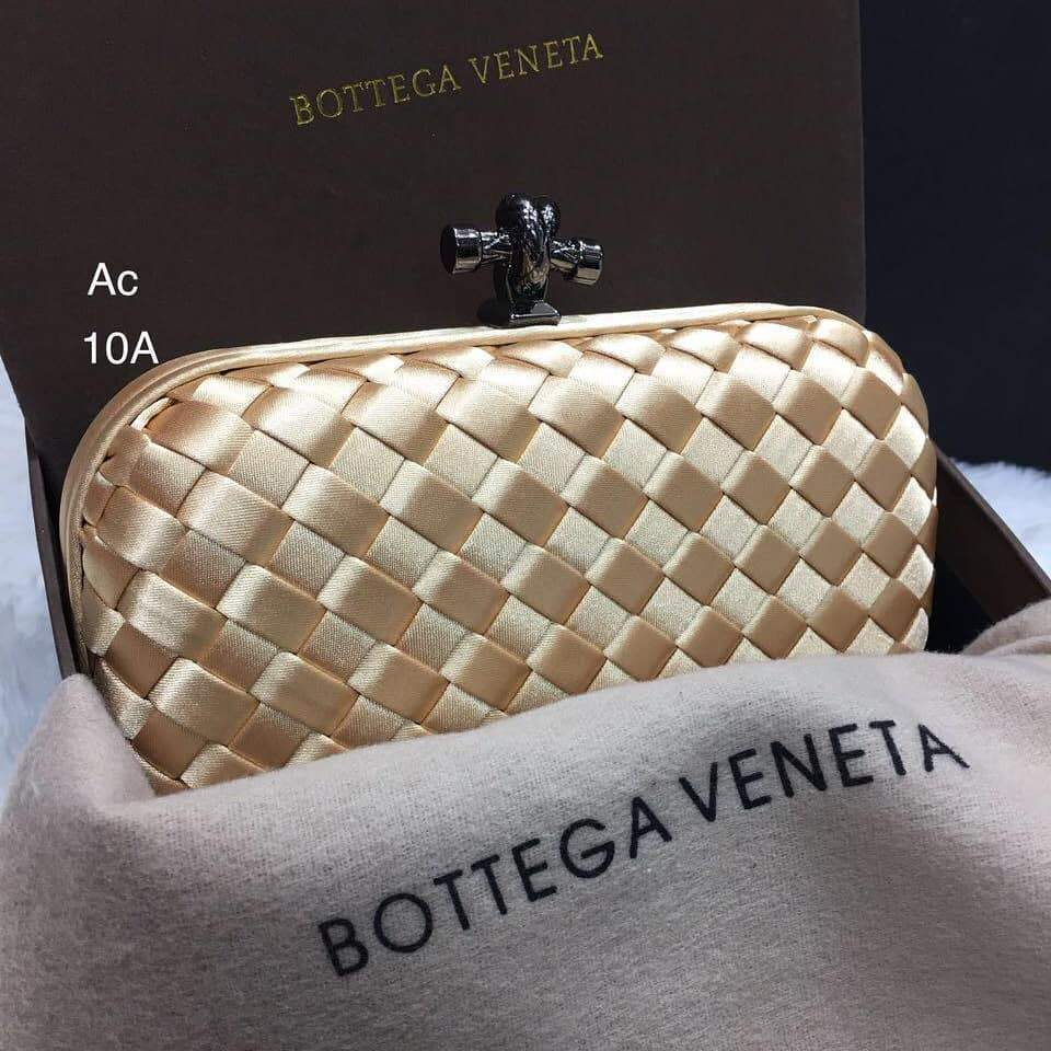 Bottega Veneta Golden Colour Small Clutch First Copy