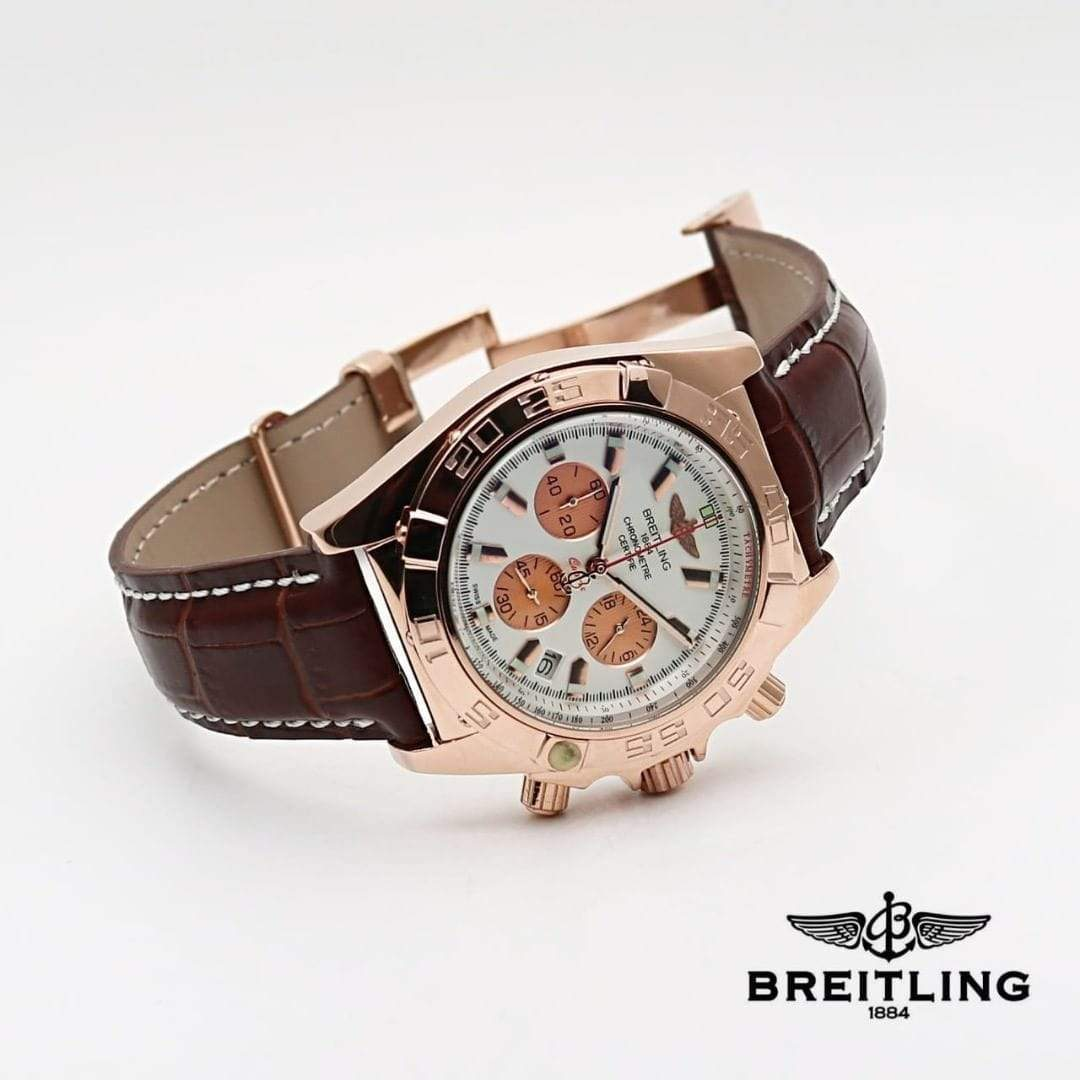 Breitling Chronomat Pilot White Dial Dual Tone Men's Watch First Copy