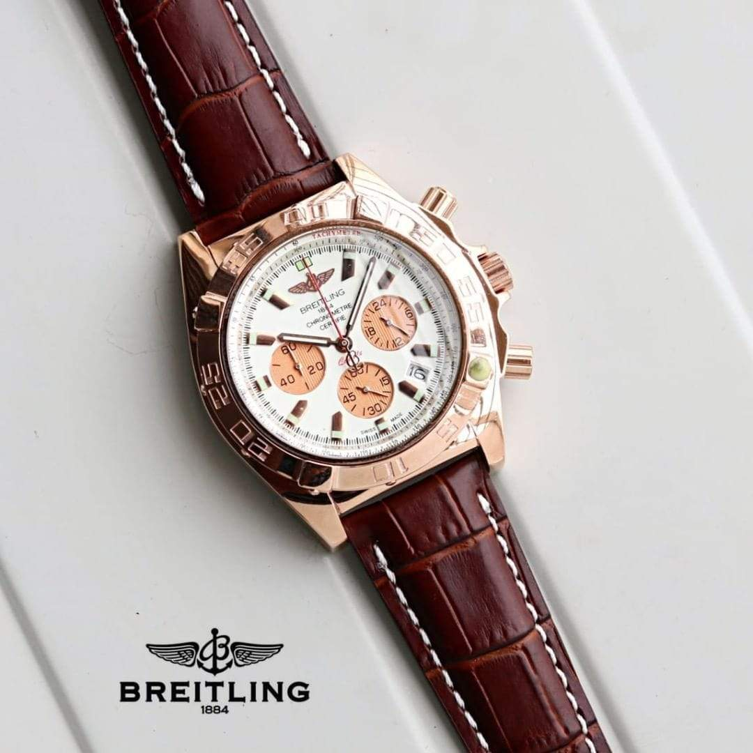 First Copy Breitling Chronomat Pilot White Dial Dual Tone Men's Watch
