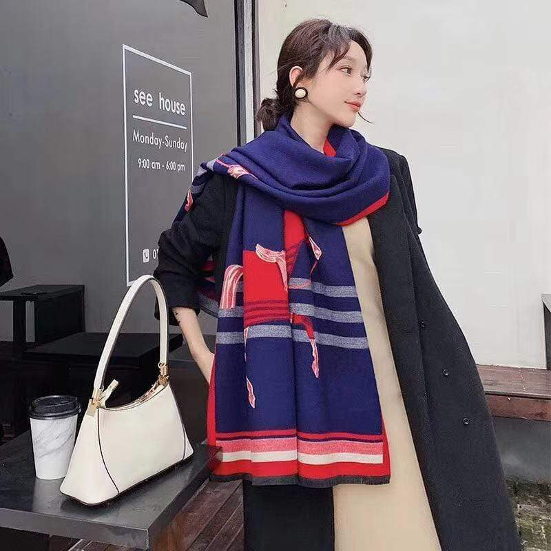Burberry Blue Colour High Quality 100% Cashmere Stole First Copy