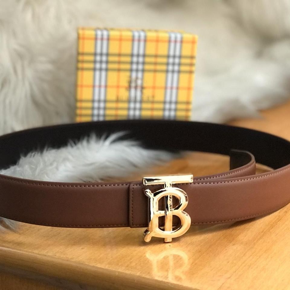 Burberry Brown Color Ladies Belt 1st copy Gucci#GG#STRIGHT