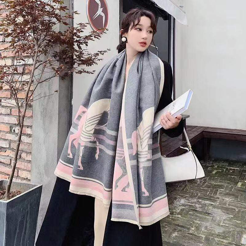 Burberry Gray Colour High Quality 100% Cashmere Stole First Copy