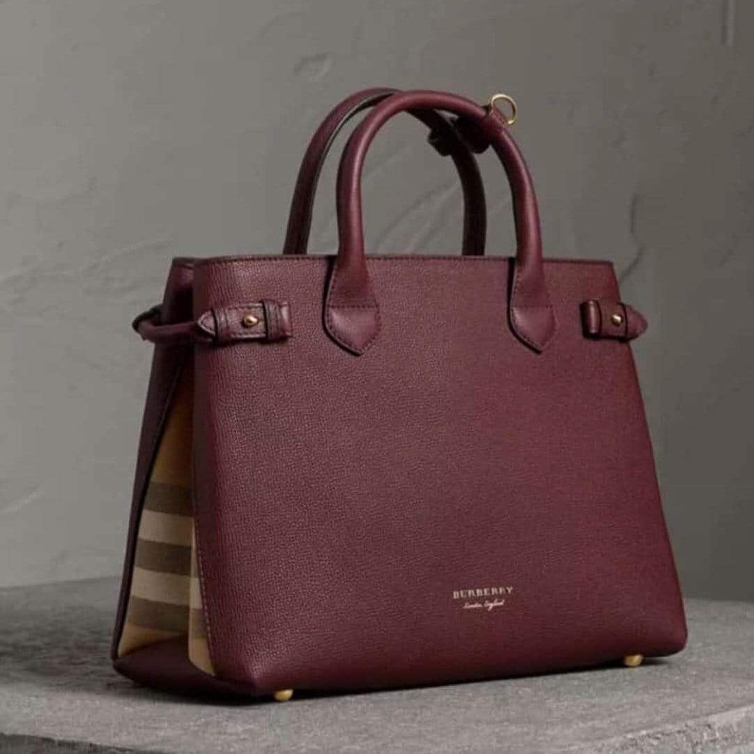 Burberry Maroon Colour Hand Bag First Copy