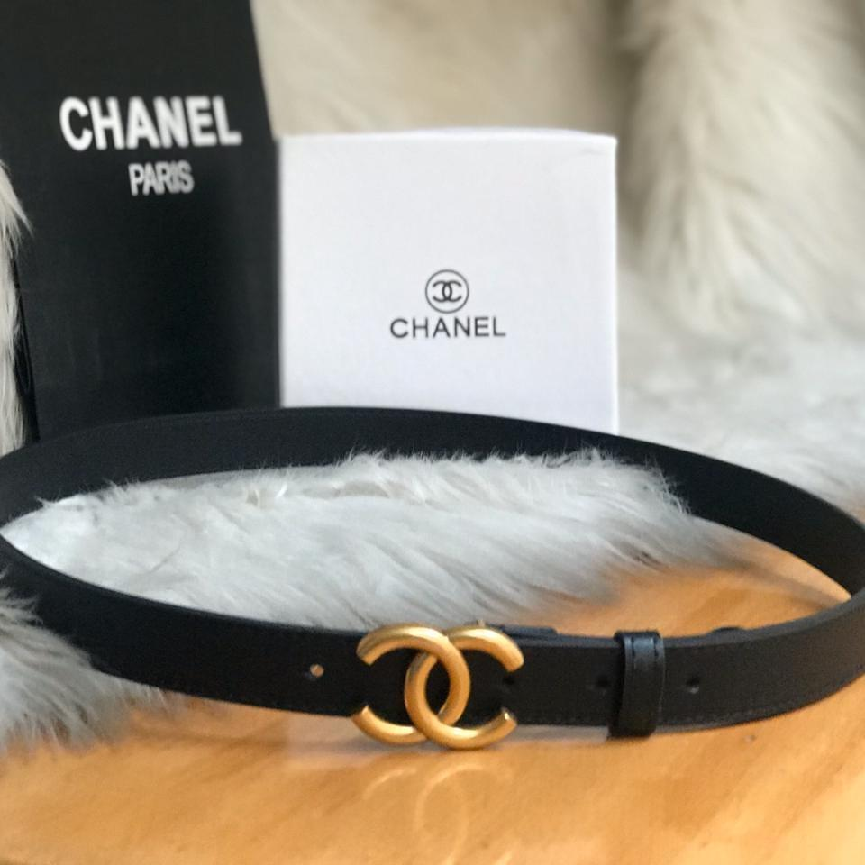 Chanel Black Color Ladies Belt 1st copy Gucci#GG#STRIGHT