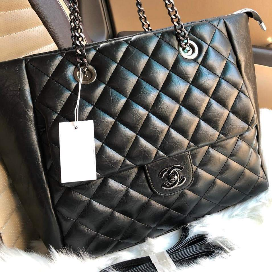 Chanel Black Colour Tote Bag First Copy