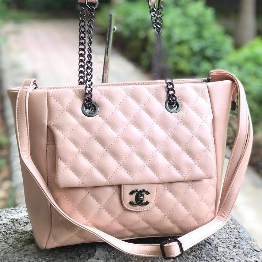 Chanel Nude Pink Colour Tote Bag 1st copy Chanel#8601-Nude Pink