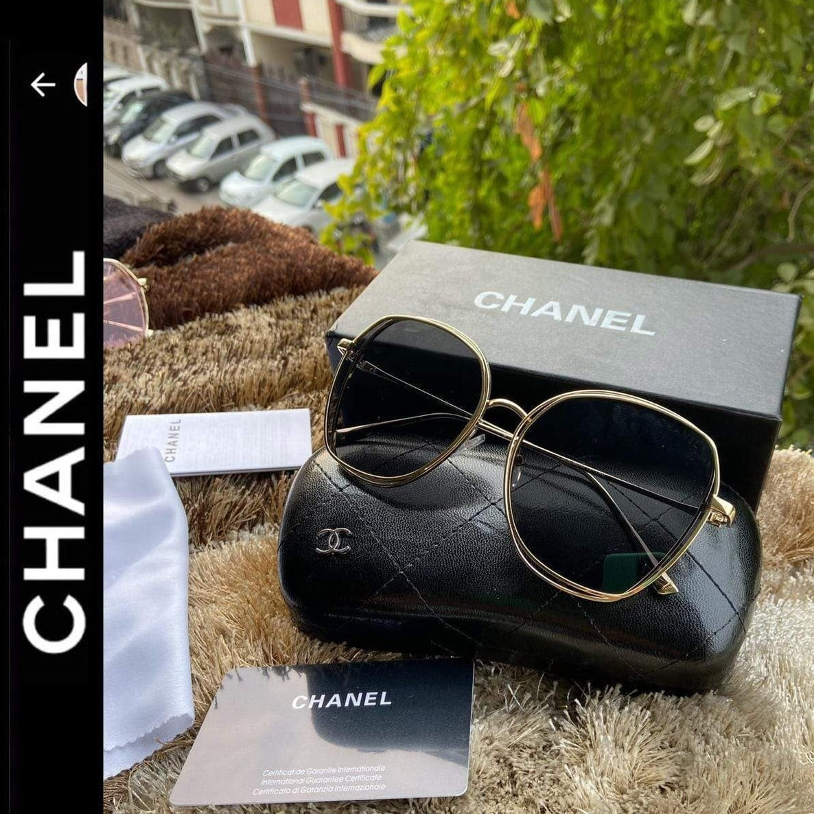 Chanel Sunglass for Her First Copy