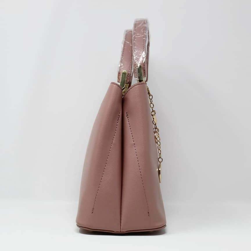 First Copy Charles and keith Peach Colour Hand Bag