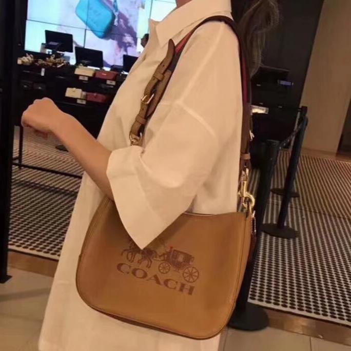 Coach Brown Leather Sling Bag First Copy