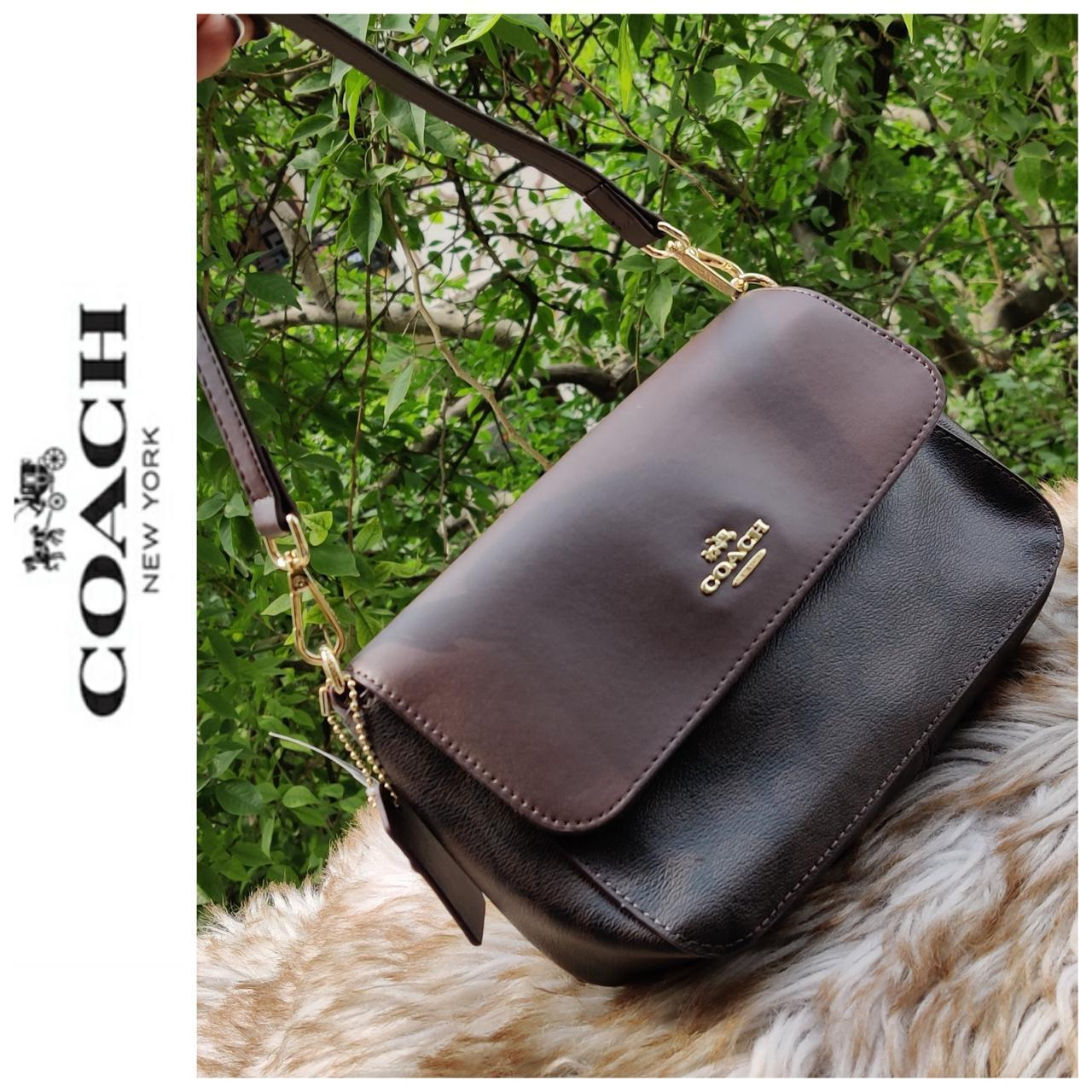 First Copy Coach Flap Coffee Sling Bag